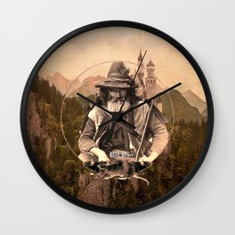 The Pied Piper (Mountain Background) Wall Clock