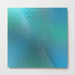 Trinity Pattern (ocean blues) Metal Print