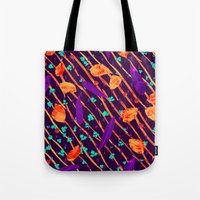 psychadelic Tote Bags featuring Psychadelic Natural Pattern #5 by Andrej Balaz