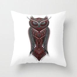 metal owl Throw Pillow