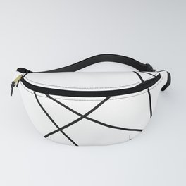Lines in Chaos II - White Fanny Pack