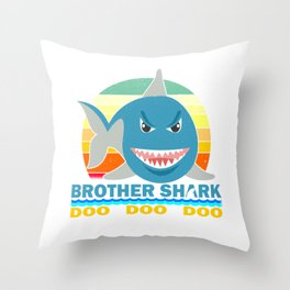 Brother Shark Gift for Toddlers and Boys Throw Pillow