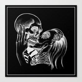 Kiss The Skull Canvas Print