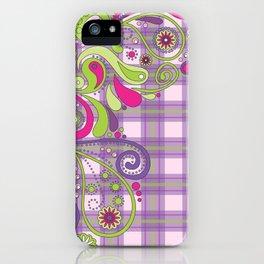 Paisley Plaid iPhone Case
