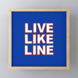 LIVE LIKE LINE Volleyball Framed Mini Art Print