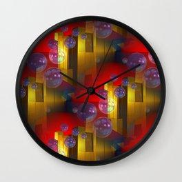 3d-bubble-pattern Wall Clock