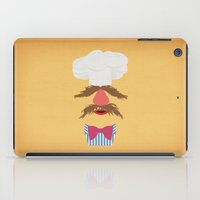 muppets iPad Cases featuring The Muppets Show Vintage Art Swedish Chef Retro Style Minimalist Poster Print by The Retro Inc