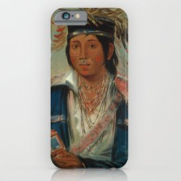 George Catlin - No English, a Dandy iPhone Case