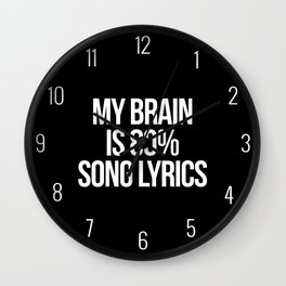 Song Lyrics Funny Quote Wall Clock