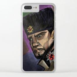 Soviet in Ushanka Clear iPhone Case