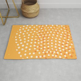 Abstract Modern Contemporary Monochromatic Background in Bright Orange Color GC-118-11 Rug