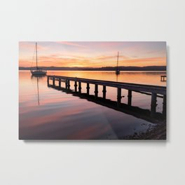 Sunrise On Lake Macquarie Metal Print