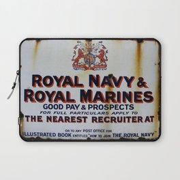 Royal Navy & Royal Marines Vintage Advert Laptop Sleeve