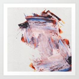 Palette Knife Strokes Art Print