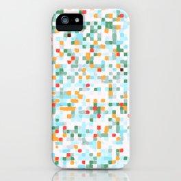 handmade coloured squares iPhone Case