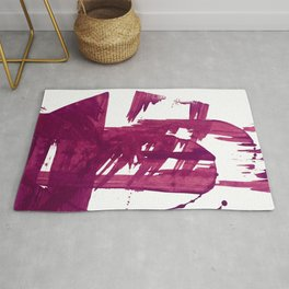 Cranberry brushstroke [1]: a bold, simple, abstract piece in purple Rug
