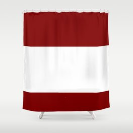 flag of latvia 2 - Latvian, Latvija,riga,baltic,letonia Shower Curtain