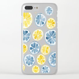 Watercolor sliced citrus Clear iPhone Case