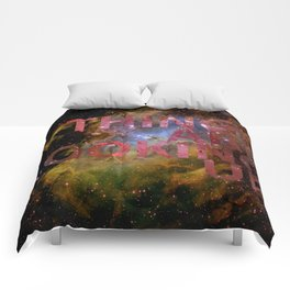 Galactic Positivity Wall Text Comforters