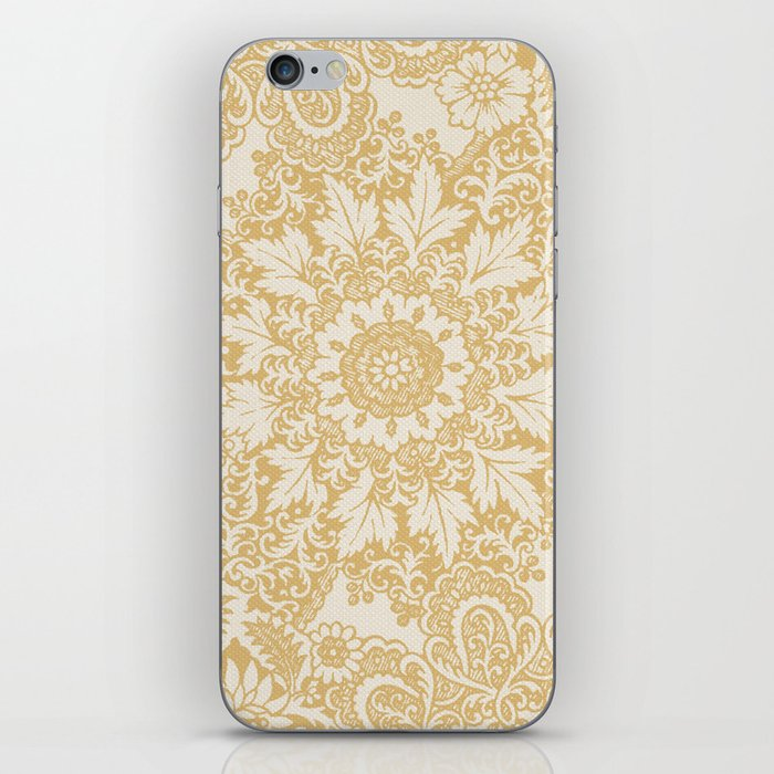 Floral in Yellow iPhone Skin