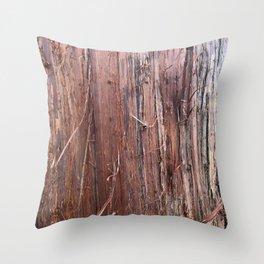 Silver Fir Tree Trunk Abies Alba Throw Pillow