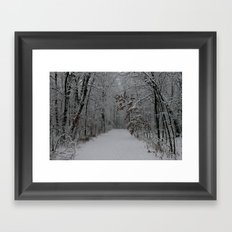 Into the End Framed Art Print