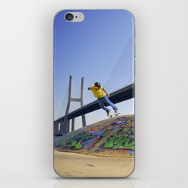 Skate Under Bridge iPhone Skin