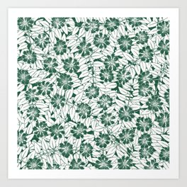 Foliage green Art Print