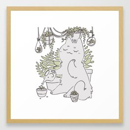 Gardener (White ver.) Framed Art Print