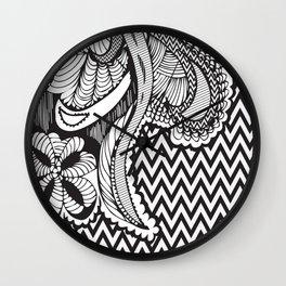 CRZY ZEBRA Wall Clock