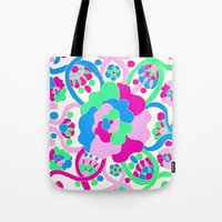 "beth hoeckel Tote Bags featuring ""Beth"" by Ma'at Silk"