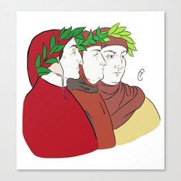 Dante, Petrarca & Boccaccio Canvas Print
