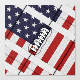 4th of July American Football Fanatic Canvas Print