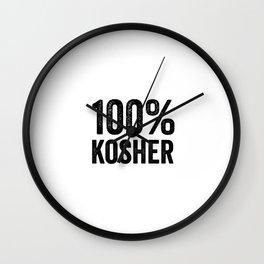 100 Percent Kosher Wall Clock