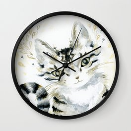 Curiosity Cat Wall Clock