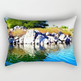 Beautiful Blue Nile River Rectangular Pillow