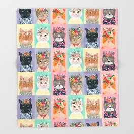Cat land Throw Blanket