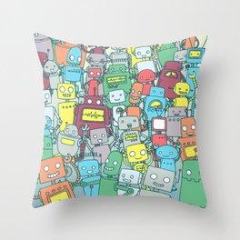 Robot Party Deko-Kissen