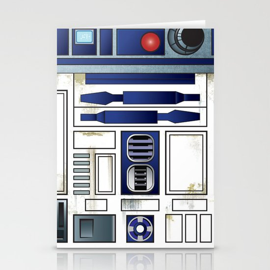 Plucky Droid Stationery Cards