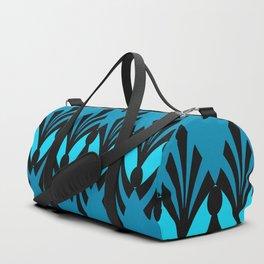Art Deco Turquoise Pattern Duffle Bag