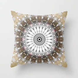 Mandala with an abstract romantic touch Throw Pillow