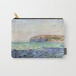 1882-Claude Monet-Shadows on the Sea. The Cliffs at Pourville-57 x 80 Carry-All Pouch