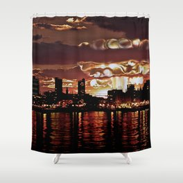 Angry Sunset. Shower Curtain