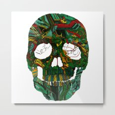 Skull No.7 Motherboard Metal Print