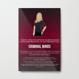 Criminal Minds - J.J. Metal Print