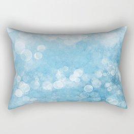 Bubble Bath Blue Rectangular Pillow