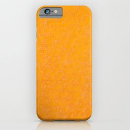 Yellow orange material texture abstract iPhone Case