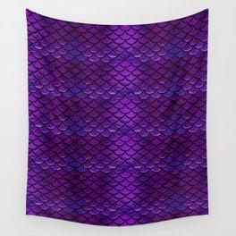 Purple & Blue Mermaid Scales Wall Tapestry