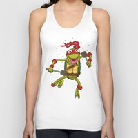 muppet Tank Tops featuring TEENAGE MUPPET NINJA PUPPET by T.a. Bryant