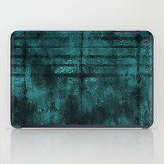 Turquoise Lined Rusted Metal Look iPad Case
